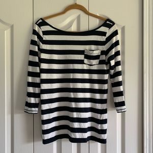 Abercrombie & Fitch 3/4 length arm striped shirt